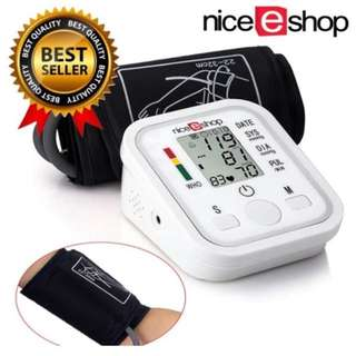 Promotion - Eshop Arm Blood Pressure Monitor LCD Heart Beat Home Sphgmomanometer