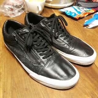 Vans Old Skool Zip Leather Black sz 12 / 46