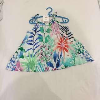 Next flowery sleeveless dress 3-6m girls