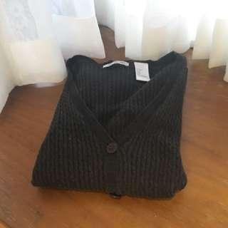 深灰針織中長版外套(costco購入)