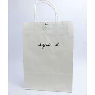全新agnes b.品牌紙袋/提袋
