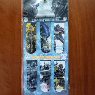 Transformer Magnetic Bookmark Set