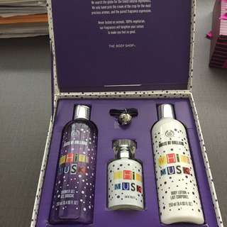 The body shop white musk x house of Holland gift set