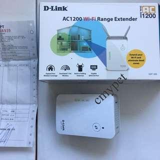 (有保養) D-Link AC1200 WiFi Range Extender
