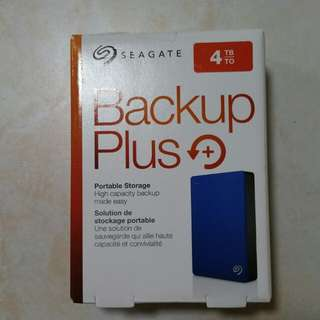 "Seagate 4TB hard drive Portable External HDD Hard Disk Drive Backup Plus 4.0 TB external 2.5""   Brand New Never Used, local warranty till Dec 2019.  USB 3.0."