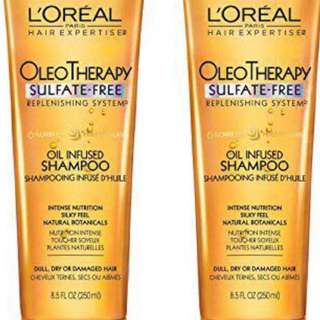 Free Delivery - LOreal Paris Hair Expertise OleoTherapy Replenishing, DUO set Shampoo + Conditioner