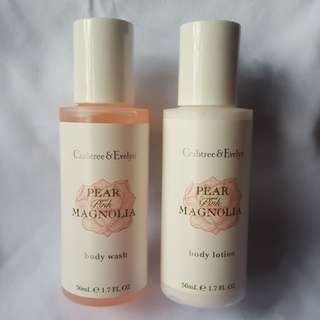 Crabtree & Evelyn Pear and Pink Magnolia Body Set