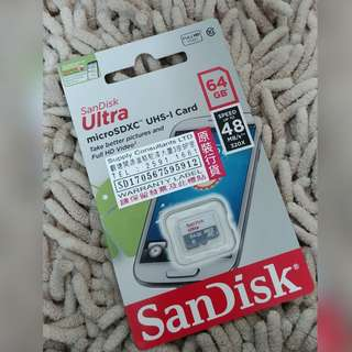 全新 64G Micro SDXC Sandisk Ultra