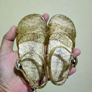 Old navy jelly sandals in gold