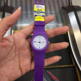 Q&Q jam tangan purple watch