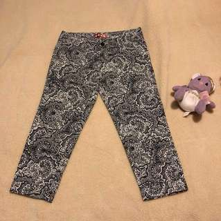 BN Moss Black white pants