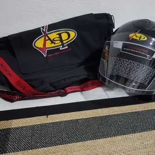 Helmet & bag