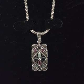 Egyptian silver necklace and pendant