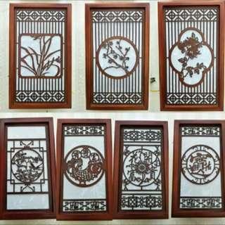 木藝燈飾壁燈