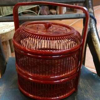 手作竹籃,購自日本