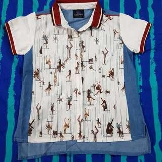 Plains and prints top