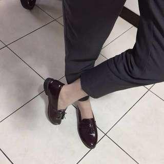 台灣製氣質酒紅軟底紳士牛津鞋樂福鞋