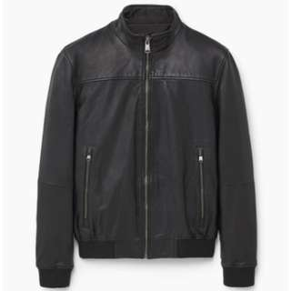 Leather biker jacket (Mango Man)