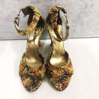 Floral Stitched Wedge- Size 35