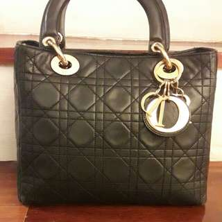 100% Authentic Lady Dior Luxurious Lamb Skin