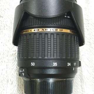 Tamron 17 - 50 mm len for Nikon.