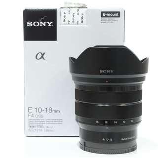 Sony E 10-18mm f4 OSS Lens