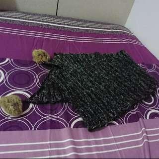 出清)毛球圍巾