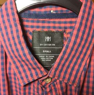 Red/ blue checked shirt