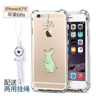 iPhone 6/6s Cute Dinosaur Clear Transparent Case