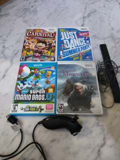 Nintendo wii u and wii games etc