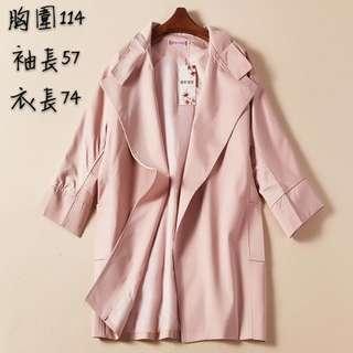 七分袖風衣外套