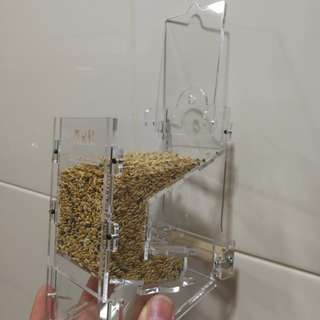 spill free seeds container or dispenser for birds