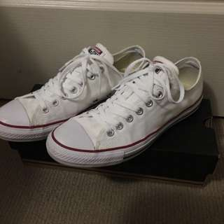 Converse Low Top White   US 9