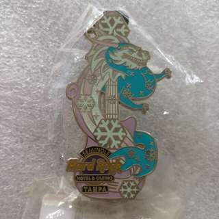 Hard Rock Cafe Pins ~ TAMPA SEMINOLE HOTEL & CASINO HOT 2013 WINTER DRAGON GUITAR WITH SNOWFLAKES!