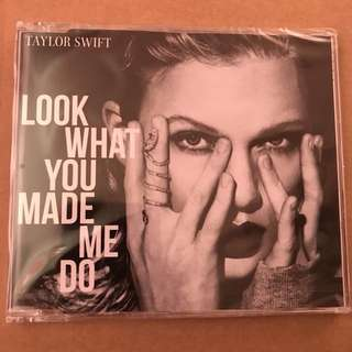 Taylor Swift Look What You Made Me Do CD Single Rare