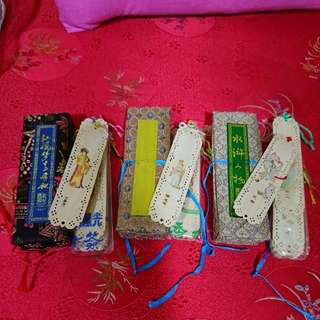 Hand crafted Chinese bookmarks