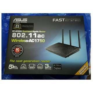 Asus RT-AC66U Router Wireless-AC1750 (BNIB)