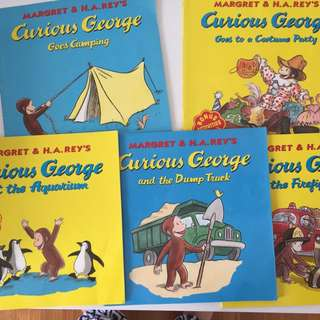 Curious George set of 5 books