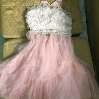 coctail tinker bell baby pink dress