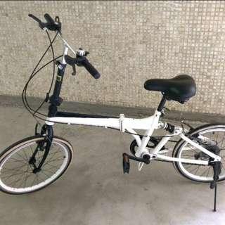 Shimano 白色六段變速摺疊單車