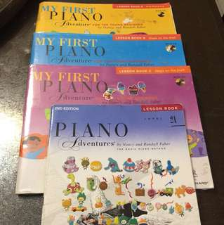 Piano Adventures Lesson Book A,B,C&2A