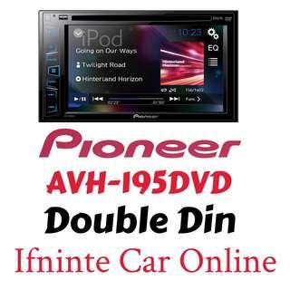 "PIONEER AVH-195DVD 6.2"" Double Din"