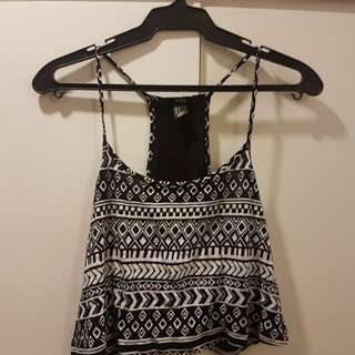 Forever 21 - Black and white halter crop top