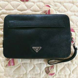PRADA Saffiano Travel Pouch/Wallet