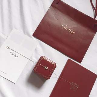 Auth Cartier 750 Love Necklace