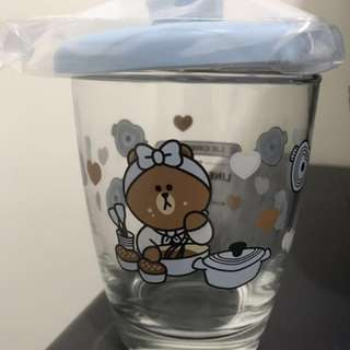 Le Creuset-Line Friends Choco心形鍋連蓋玻璃杯