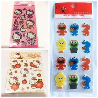 BN Elmo & Hello Kitty Stickers