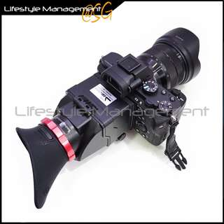 DSLR Camera Viewfinder Magnifier Flip-up Foldable Eyepiece 3X Optical Magnification 3 inch LCD (Sony A7 Canon 5D Nikon)