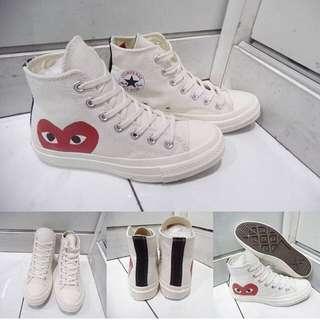 Sepatu Converse Allstar Chuck Taylor CDG Play Love High Premium