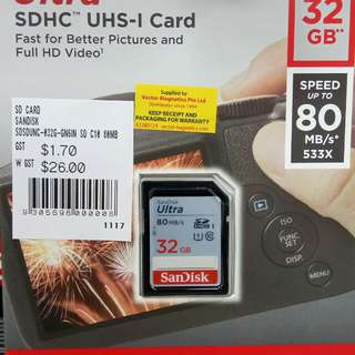 32 gb SanDisk SD Card